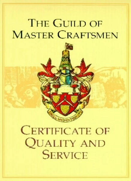 Guild of Master Craftsmen - Certificate of Quality and Service